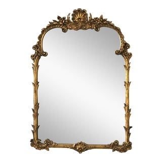 Antique Victorian Style French Gilt Mirror For Sale