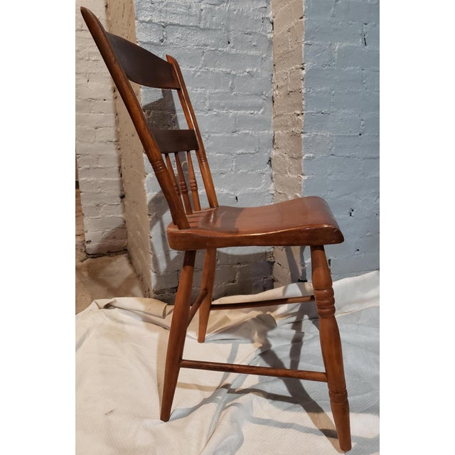 Brown 1825 Spindle Back Windsor Chair For Sale - Image 8 of 11