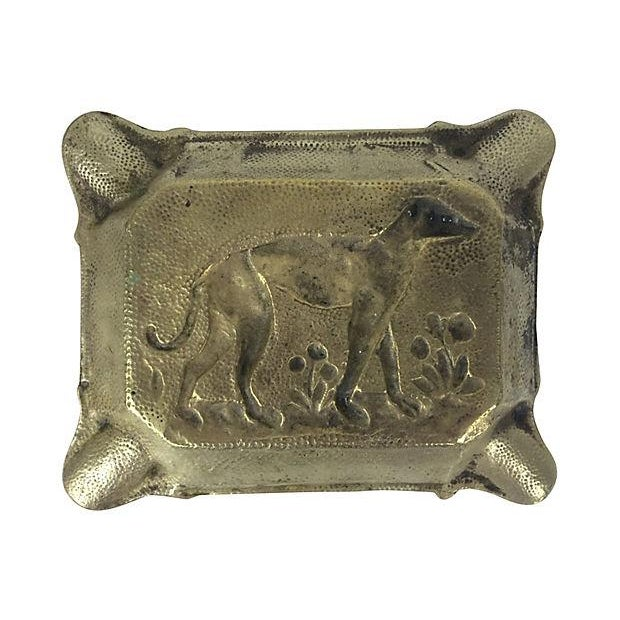 French Brass Ashtray with Dog - Image 2 of 2