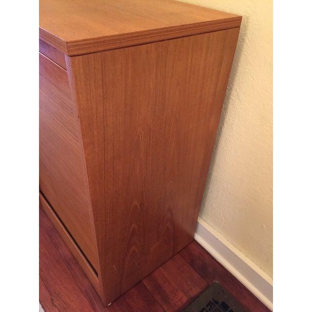Danish Modern Teak Tambour Doors Filing Cabinets - A Pair For Sale - Image 9 of 10