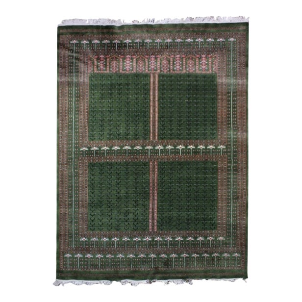 Hand-Knotted Pakistan Bokhara Rug For Sale