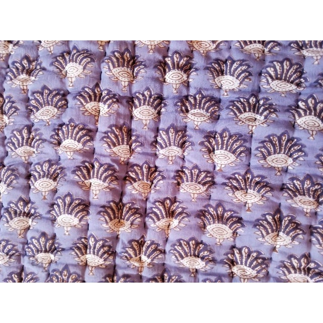 2010s Boho Chic Roberta Roller Rabbit Twin Purple Quilt For Sale - Image 5 of 7