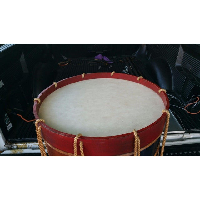 Traditional 1950s Vintage Polychromed Drum Form Table For Sale - Image 3 of 10