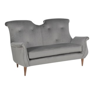 1960s Vintage Federico Munari Loveseat For Sale