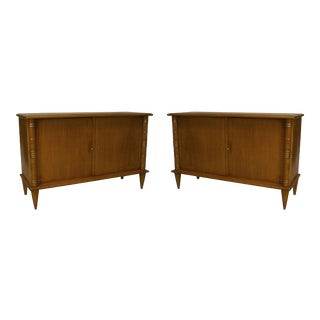 1930s French Art Deco Sycamore Commodes-a Pair For Sale