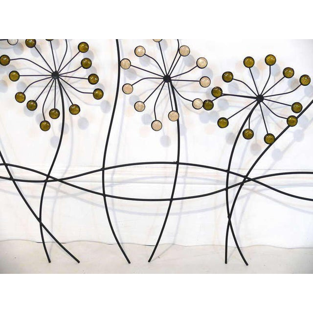 Beaded Floral Wall Sculpture - Image 7 of 8