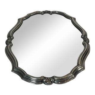 Early 20th Century Antique American Decorative Silver Mirror For Sale