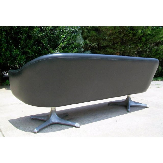 Chromcraft Mid Century Modern Black Tufted Couch - Image 7 of 11