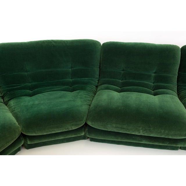 Green Mid-Century Modern Vladimir Kagen for Preview Hunter Green Velvet Sectional Sofa For Sale - Image 8 of 12