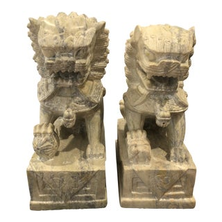 Stone Foo Dogs - a Pair