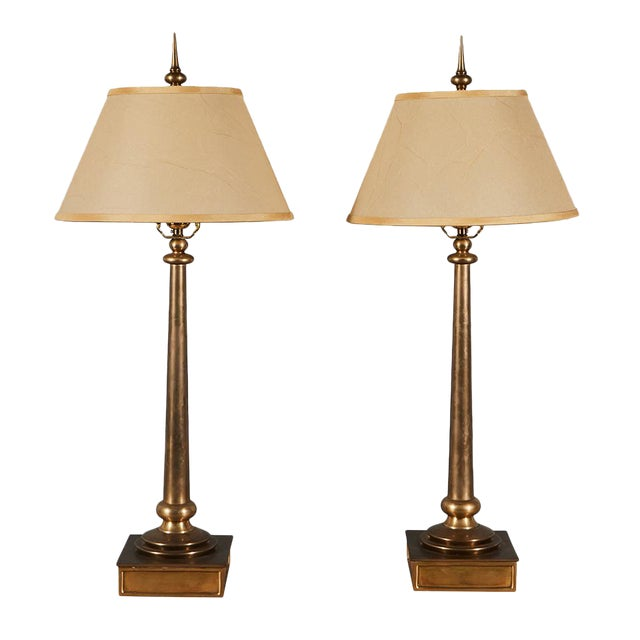 Pair of Chapman Brass Table Lamps For Sale