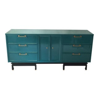 American of Martinsville Lacquered Ming Credenza