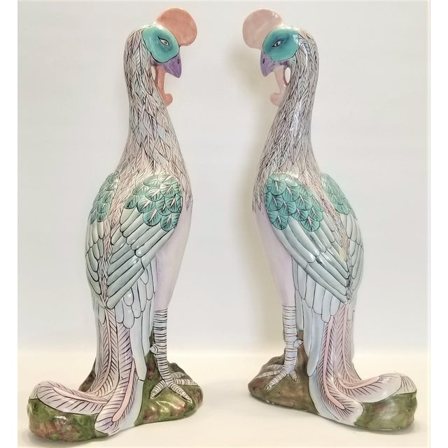 Toyo Phoenix Bird Statues - Super Large 17 Inches - Feng Shui - Asian Palm Beach Boho Chic Animals Tropical Coastal For Sale - Image 4 of 13