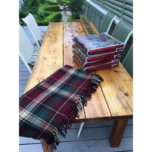 Vintage Faribault Plaid Pak a Robe Wool Blankets - Set of 5 - Image 2 of 8