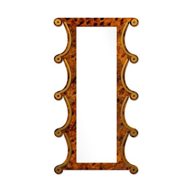 Contemporary Fleur Home x Chairish Voodoo Mirror in Tortoise, 42x84 For Sale - Image 3 of 3