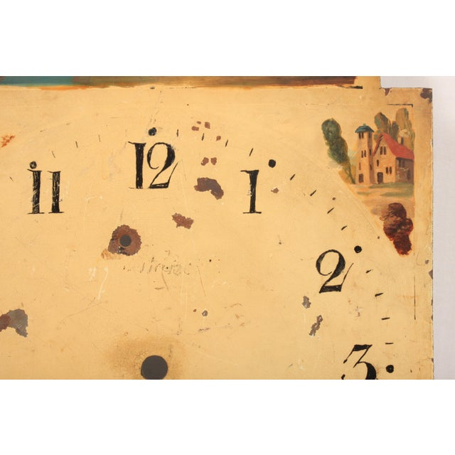 Cottage 19th-C. Hand-Painted English Clock Face For Sale - Image 3 of 5