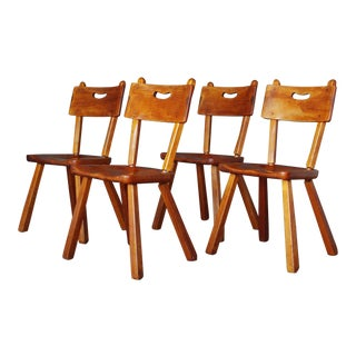 Herman De Vries American Rustic Dining Chairs - Set of 4 For Sale