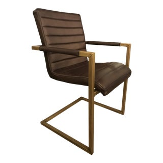 Contemporary Leather Chair For Sale