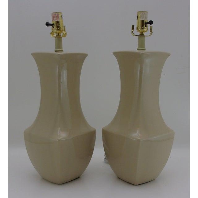 Vintage Porcelain Table Lamps - A Pair - Image 2 of 6