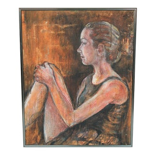 Framed Figurative Painting For Sale