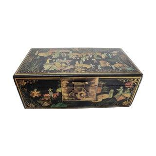 Asian Hand Painted Rectangalar Box