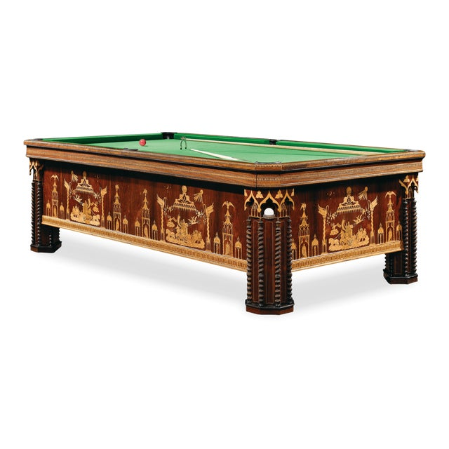 French Gothic Revival Billiard Table For Sale In New Orleans - Image 6 of 8
