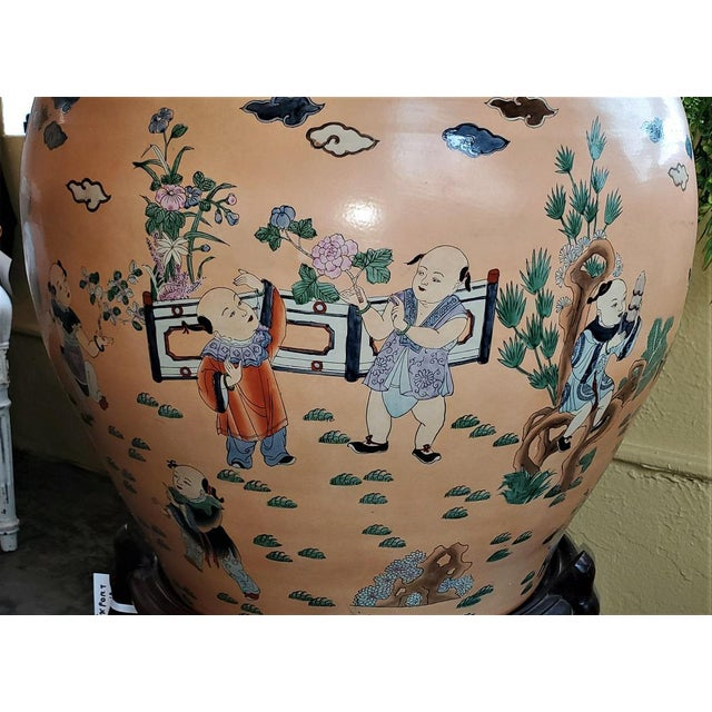 Mid 20th Century Large Chinese Fish Bowl Side Table With Stand For Sale - Image 5 of 13