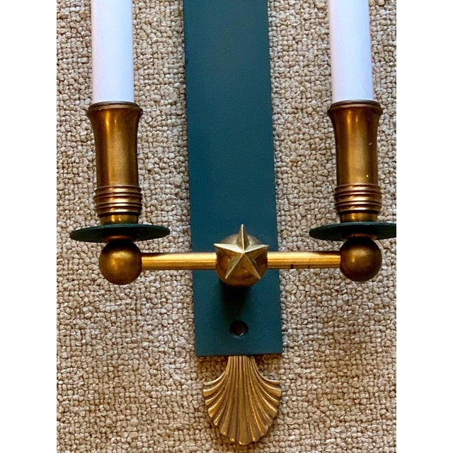 Pair of French Modern Wall Sconces, in the Style of Adnet For Sale - Image 4 of 9
