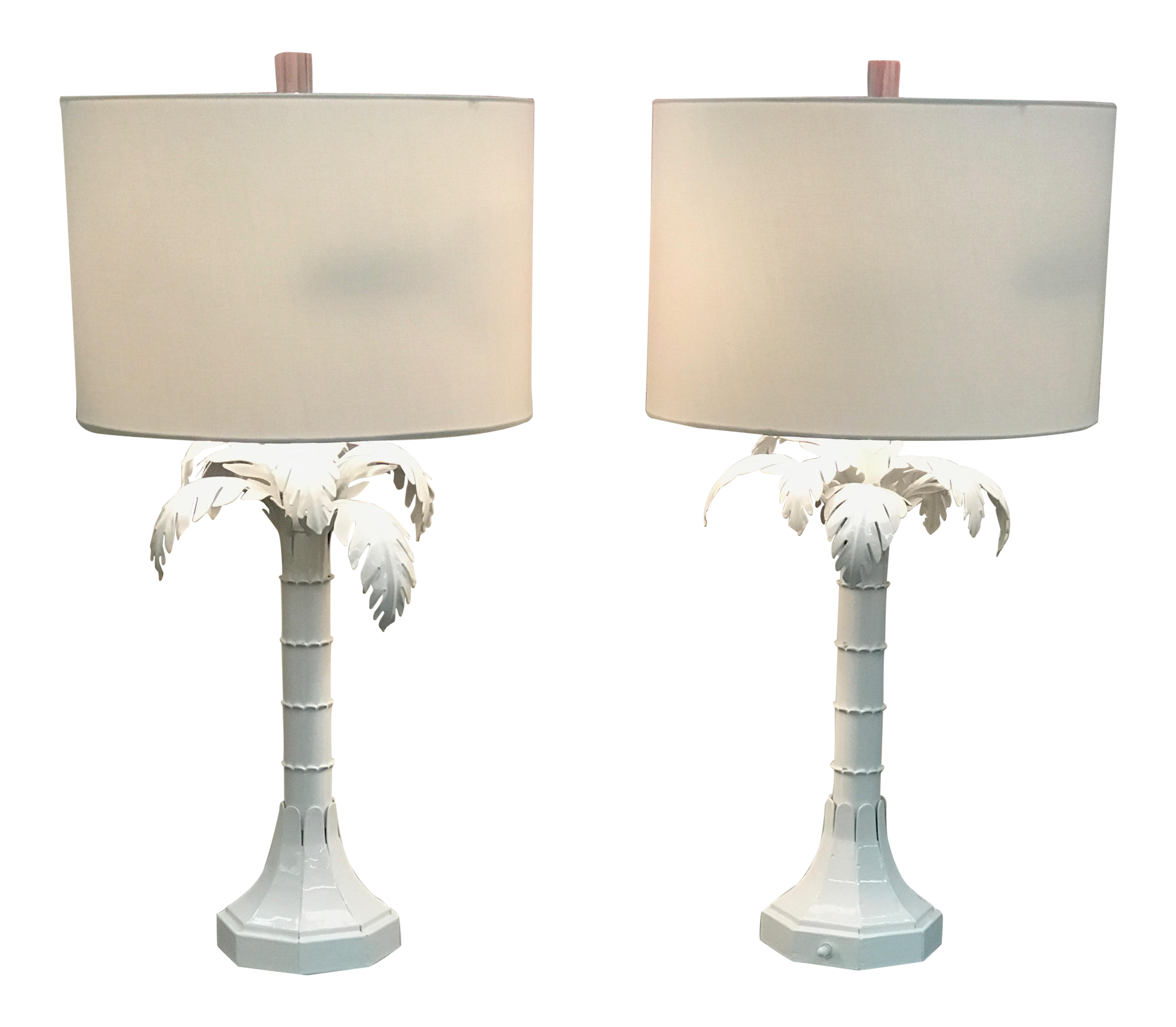 capital lighting palm beach gardens. Vintage White Gloss Palm Tree Lamps With Lucite Finials - A Pair Capital Lighting Beach Gardens