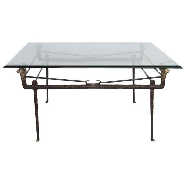 Alberto & Diego Giacometti Italian Bronze Cocktail Table For Sale - Image 4 of 4