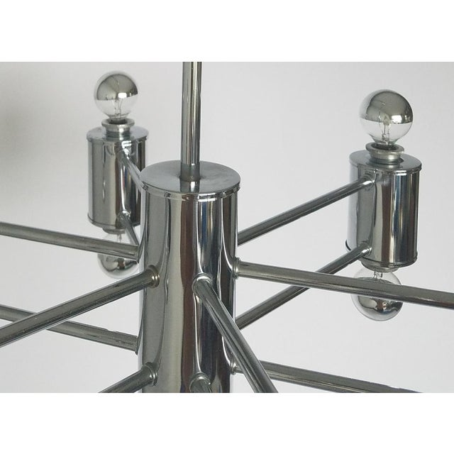 Mid-Century Modern Sciolaris Chrome Chandelier For Sale In Miami - Image 6 of 12
