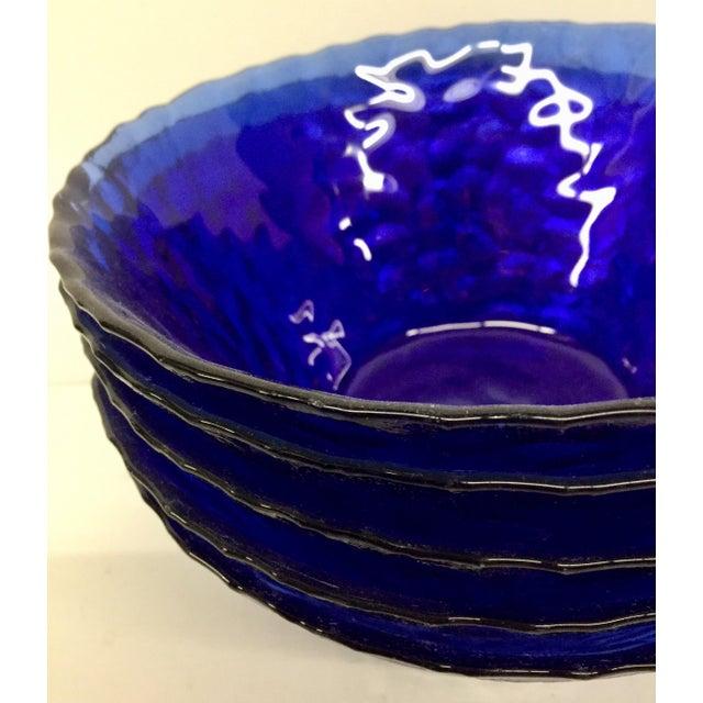 Blue 1960s Vintage Cobalt Blue Bowls - Set of 6 For Sale - Image 8 of 11
