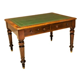William IV Library Table With Leather Top, Circa:1840, England For Sale