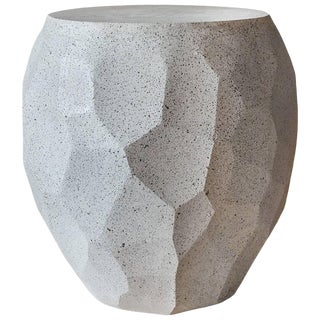 Cast Resin 'Facet' Side Table in Natural Stone Finish by Zachary A. Design For Sale