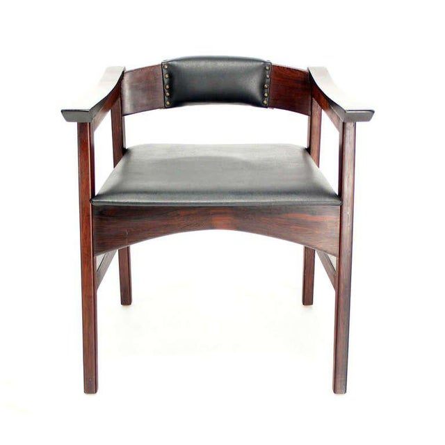 Animal Skin 1960s Vintage Danish Mid-Century Modern Rosewood Dining Chairs - Set of 4 For Sale - Image 7 of 11