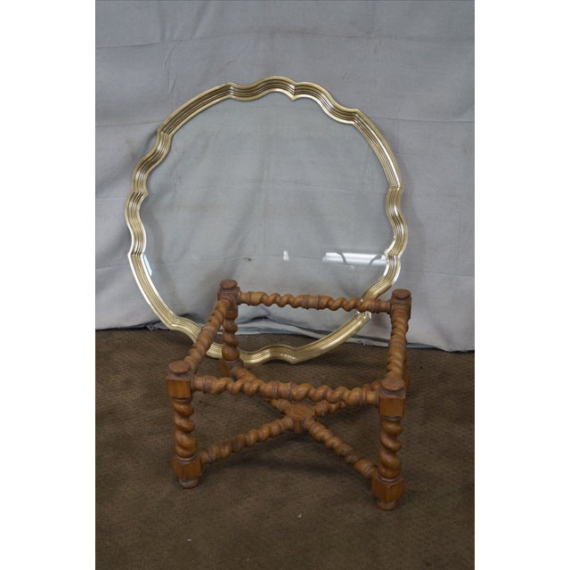 Quality Brass & Glass Tray Top Coffee Table - Image 9 of 9