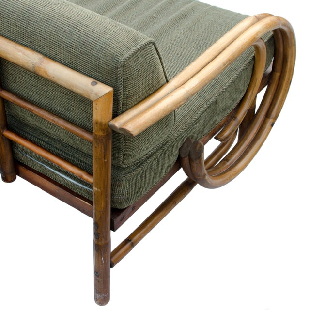 Mid-Century Rattan Sectional Sofa - Image 9 of 11
