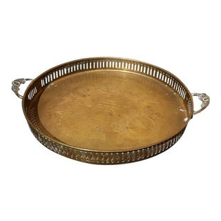 Vintage Brass Gallery Tray