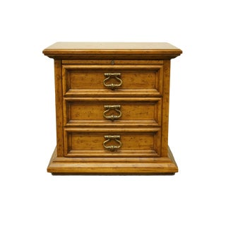 20th Century Traditional Drexel Heritage Velero Collection Mediterranean Style Two Drawer Nightstand For Sale