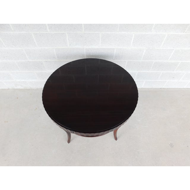 "Art Deco Baker Barbara Barry Collection Mahogany Center Table 37""w For Sale - Image 3 of 9"