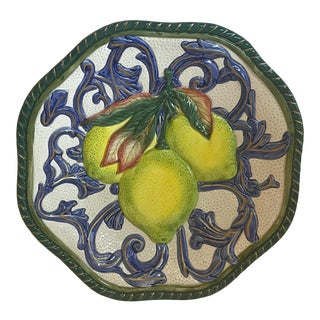 Fitz and Floyd Decorative Lemon Plate For Sale