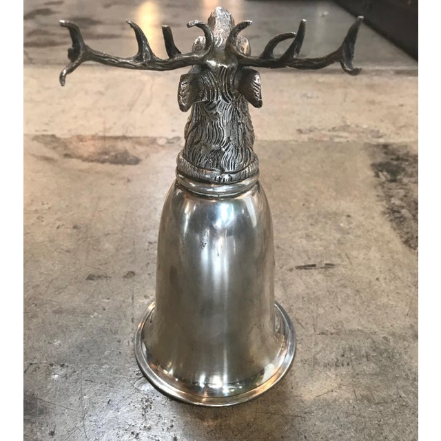 1970s 1970s Vintage Gucci Stag Silver Stirrup Cup, Signed For Sale - Image 5 of 11
