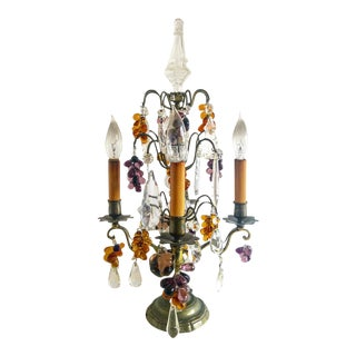 Antique French Style Electric Table Candlabra For Sale
