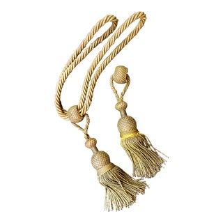 Antique French Museal Metallic Gold Bullion Baroque Tassel For Sale