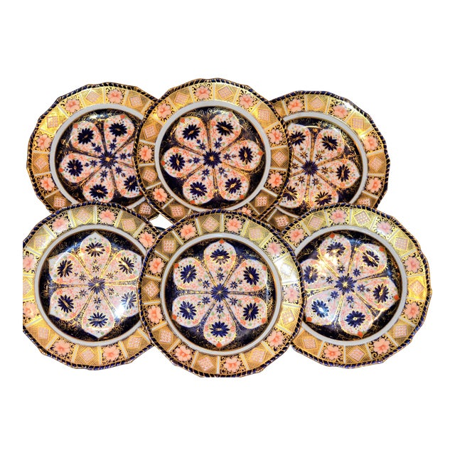 Royal Crown Derby Imari Rope Edge Plates - Set of 6 - Image 1 of 10