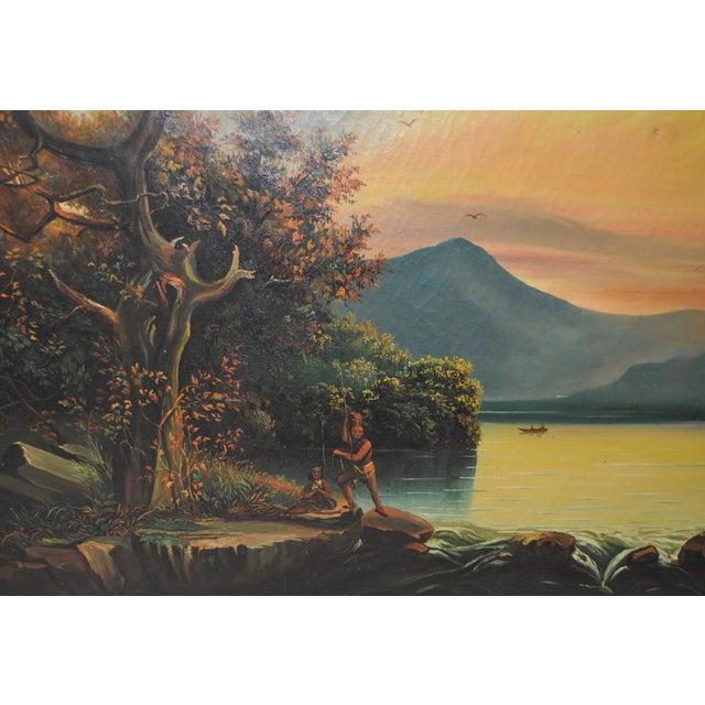 Vintage Native American Western Landscape - Image 7 of 10
