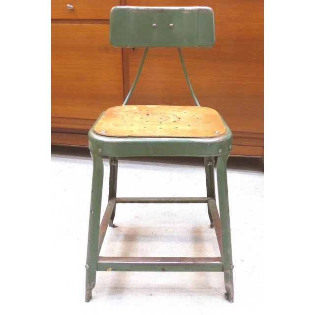 Industrial Metal Desk Chair For Sale - Image 10 of 10