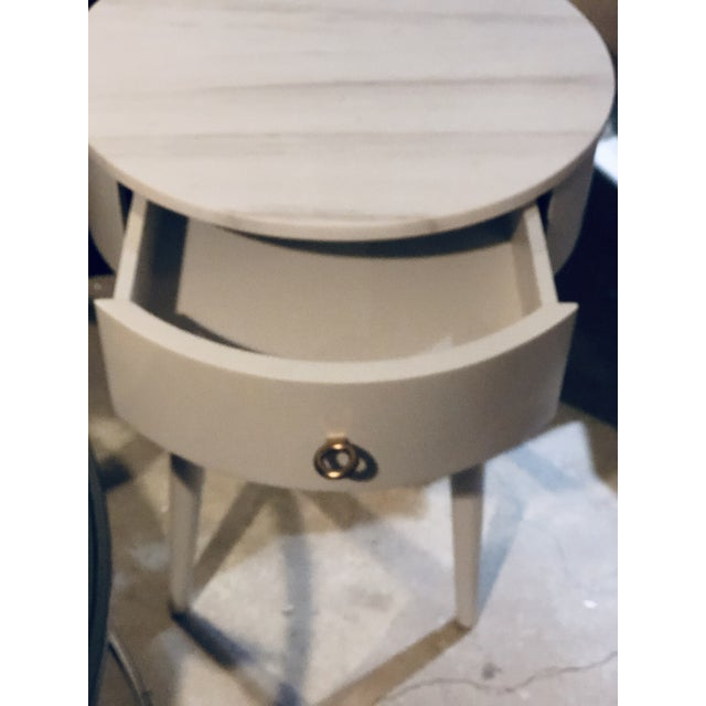 2010s Penelope Nightstand With Marble Top For Sale - Image 5 of 6