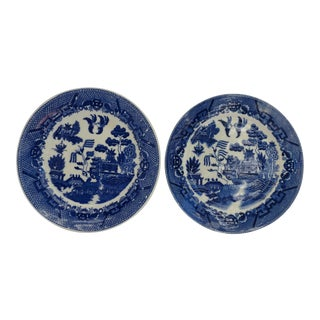 Blue Willow Japan Plates - A Pair For Sale