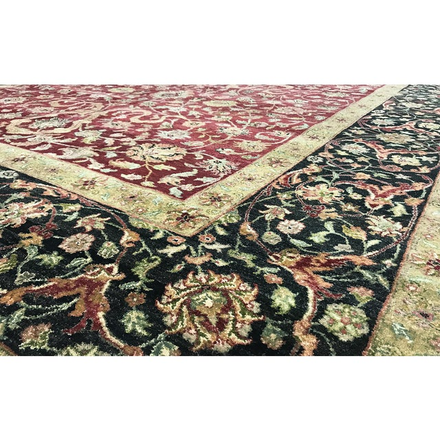 """Traditional Gallery Size Traditional Hand Woven Rug - 9'2"""" X 16'5"""" For Sale - Image 3 of 3"""